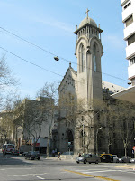 church In front of the Municipality of Montevideo