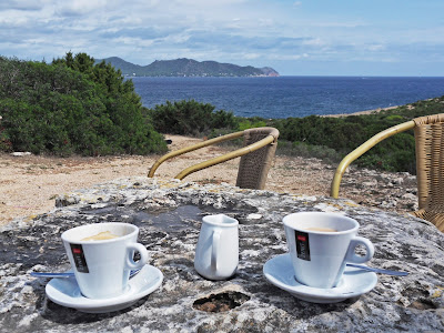 Coffee on Cala Bona headland