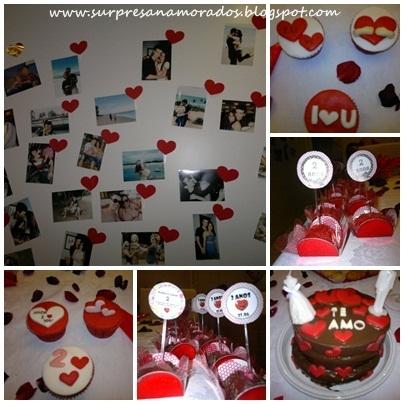 corações surpresa romântica