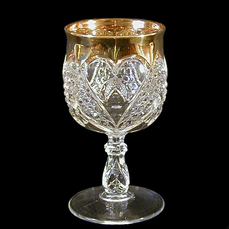Antique Pressed Glass Lided Bon Bon Bowls