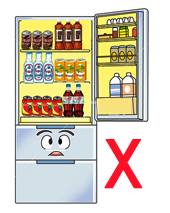 try not to stock drinks in the refrigerator to avoid temptation