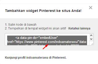 Cara Menambahkan Widget Pinterest di Blog 2