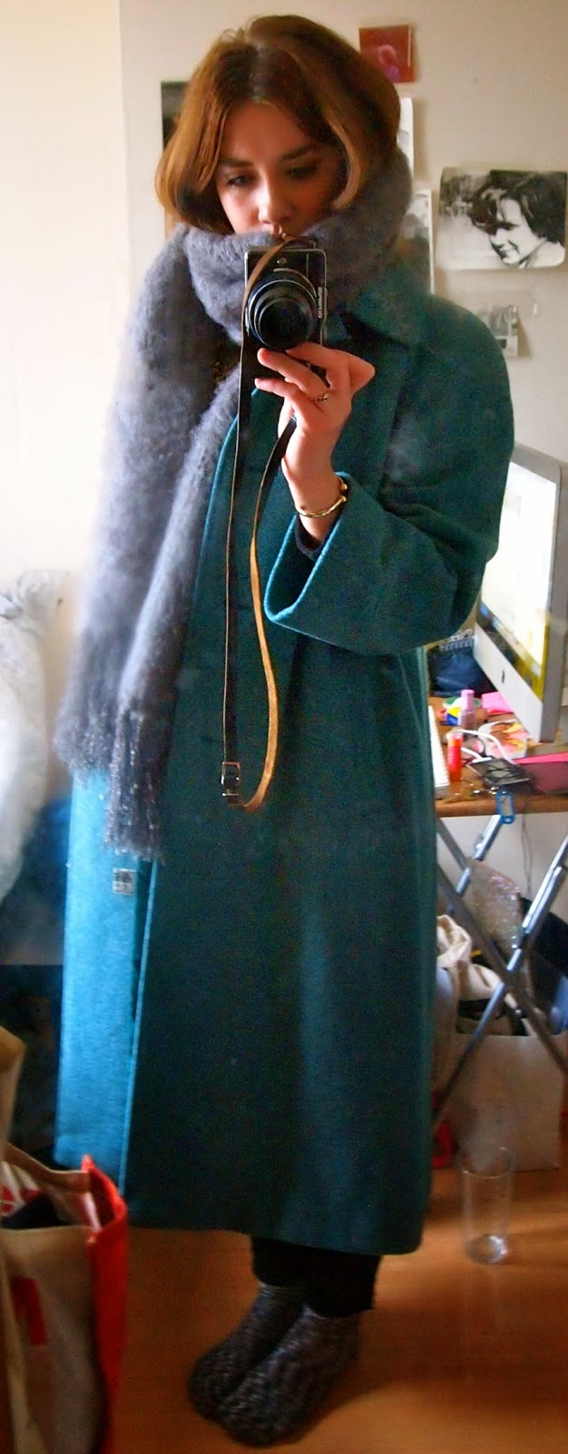 Charity shop coat - mint