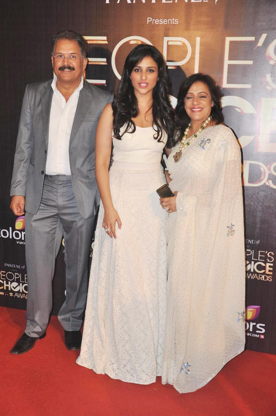 Parineeti Chopra with her father and mother