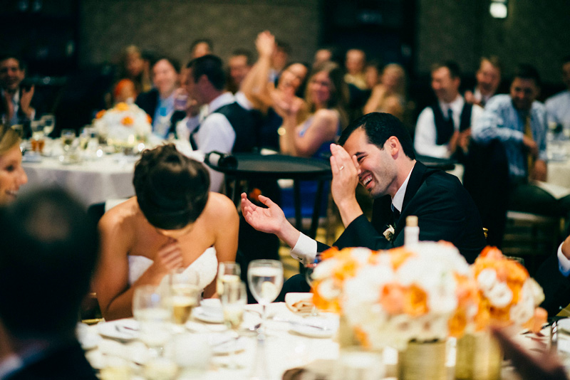 Bride and Groom Speech Reaction