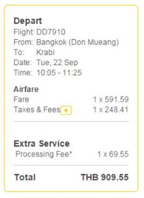 泰國鳥航 NokAir曼谷飛清萊單程 THB840起: 連稅及手續費THB910 (HK$200 / TWD 815)
