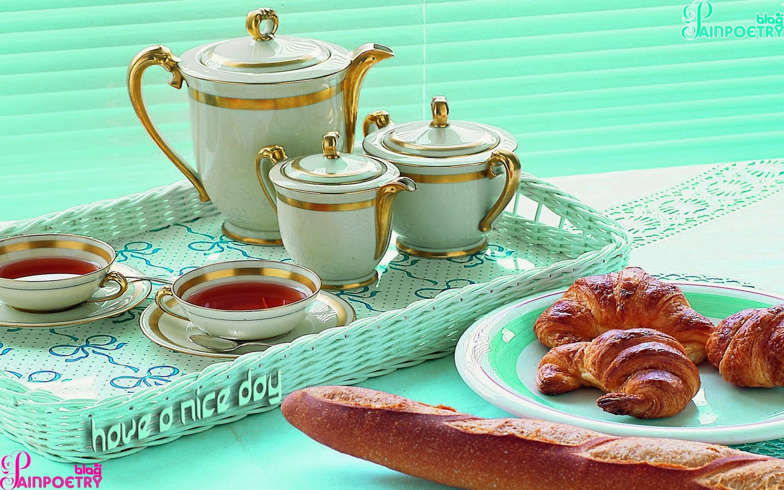 Good-Morning-Wishes-Photo-With-Tea-Set-And-Bread-Wallpaper-Wide