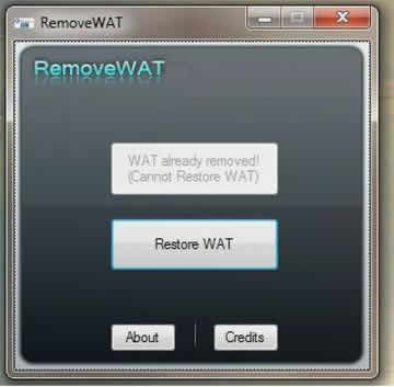 Windows 7 Genuine Activation RemoveWAT 2