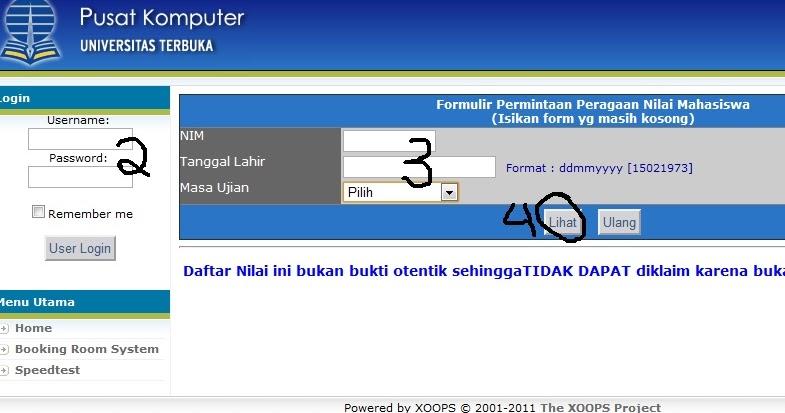 konsultasi sawit: Pengumuman Nilai Universitas Terbuka 2012.1