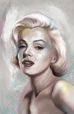 Retratos de famosos- Marilyn Monroe