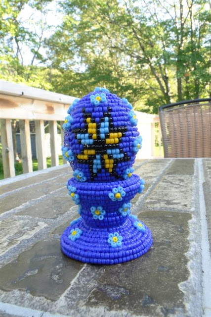 Beaded Easter Egg Handmade by Daria Iwasko, USA
