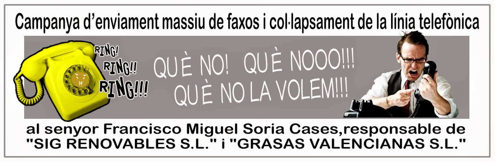 ENVIAMENT MASSIU DE FAXOS I COL·LAPSAMENT DE LA LÍNIA TELEFÒNICA