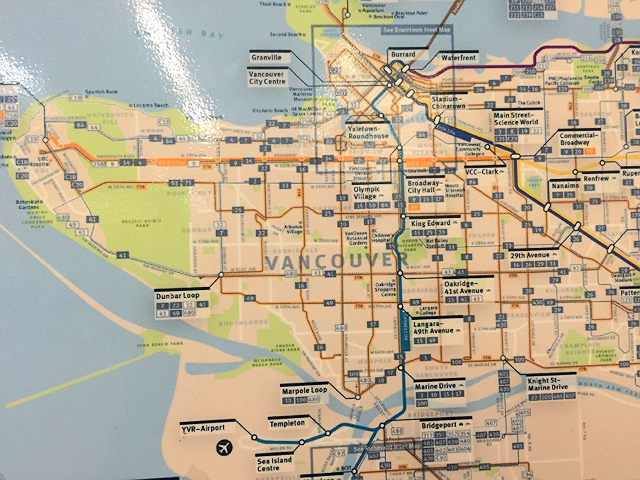 Vancouver BC Map, Vancouver BC Train Map, Map of Vancouver BC, Tunnel Map, Train Map, Strop Map