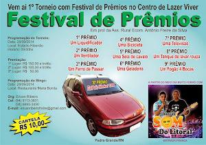 Vem ai! Festival de Prêmios em Pedra Grande/RN.