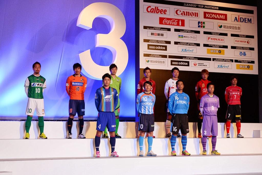 Para Pemain dari 12 Klub Peserta J3 J.League Musim 2014