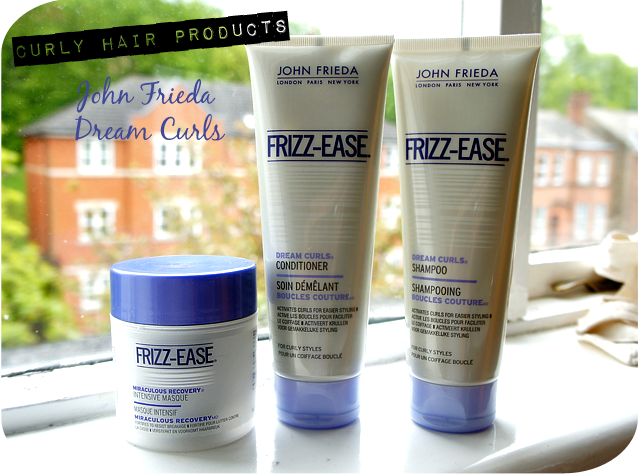 John Frieda Frizz Ease Dream Curls Conditioner, Shampoo and Miraculous Recovery Deep Conditioner