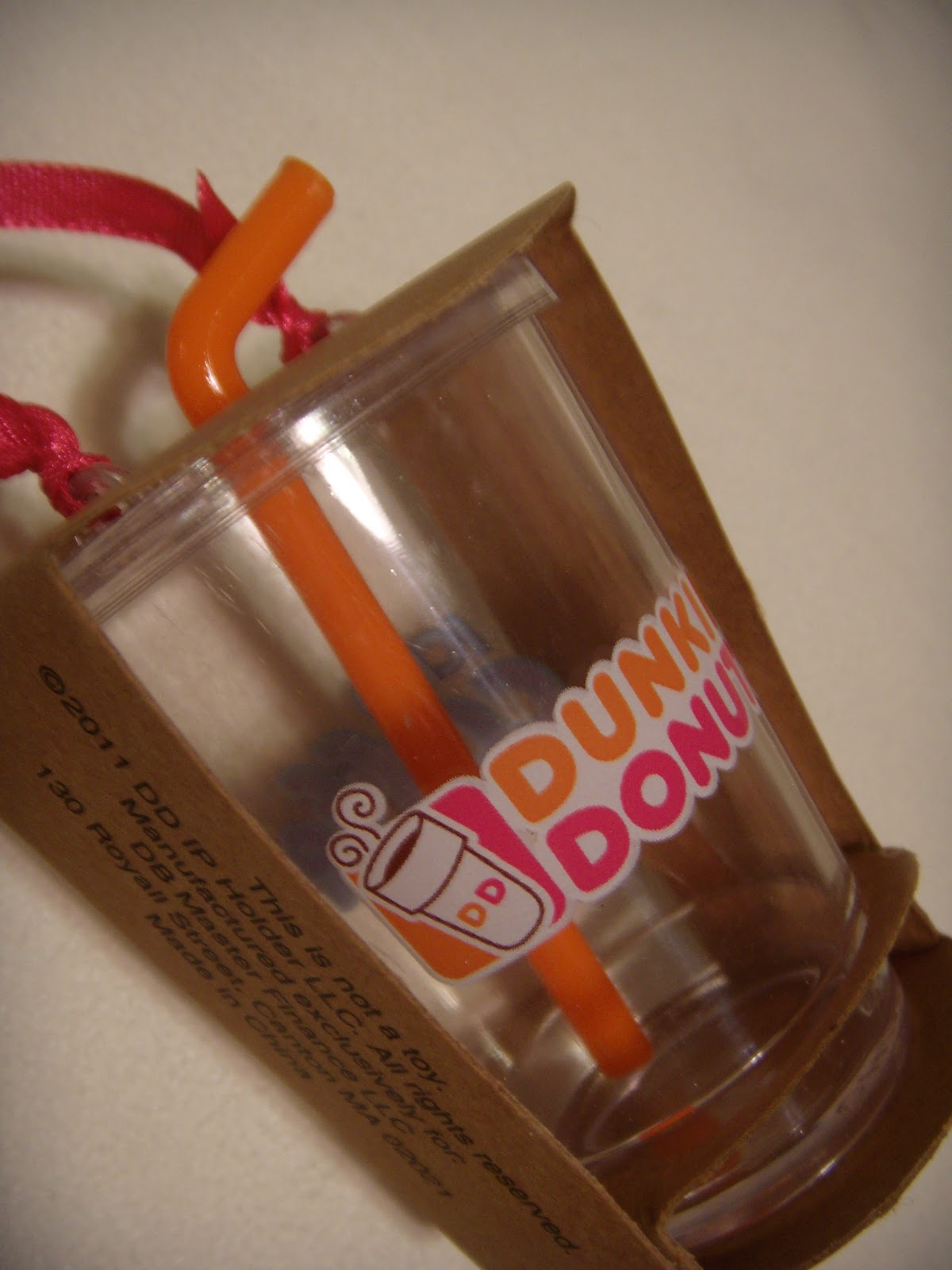 Dunkin Donuts Iced Coffee Ornament