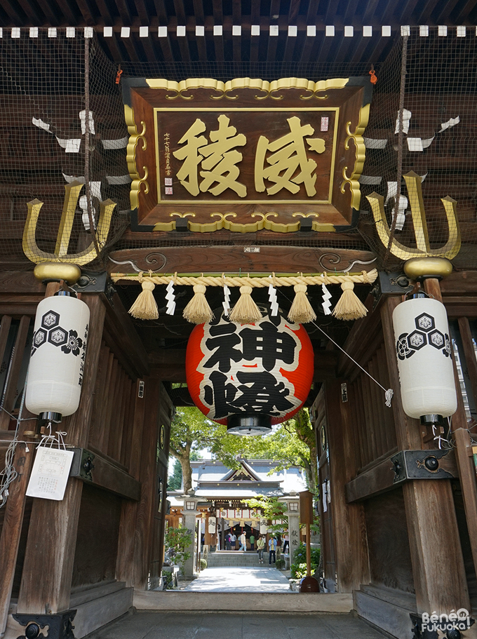 Kushida shrine's gate / 櫛田神社の門