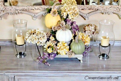 Decorating Fall on Buffet at One More Time Events.com