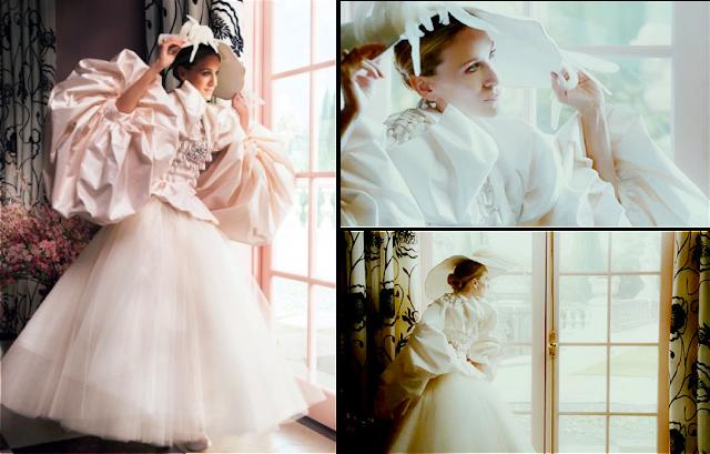 Carrie Bradshaw vestida de novia por Christian Dior