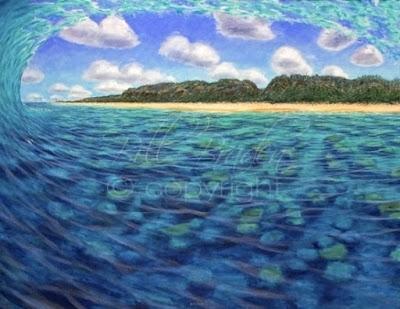 Pipeline Beach Surf - North Shore, Hawaii