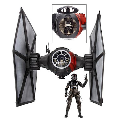 "Star Wars: The Force Awakens First Order TIE Fighter The Black Series Vehicle with First Order TIE Pilot 6"" Action Figure"