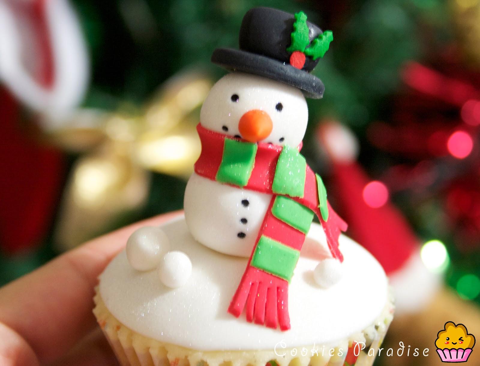 Cookies paradise receta de cupcakes navide os y como for Decoracion en cupcakes