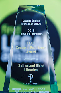 LIAC Centre of Excellence Award presented to Sutherland Shire Libraries