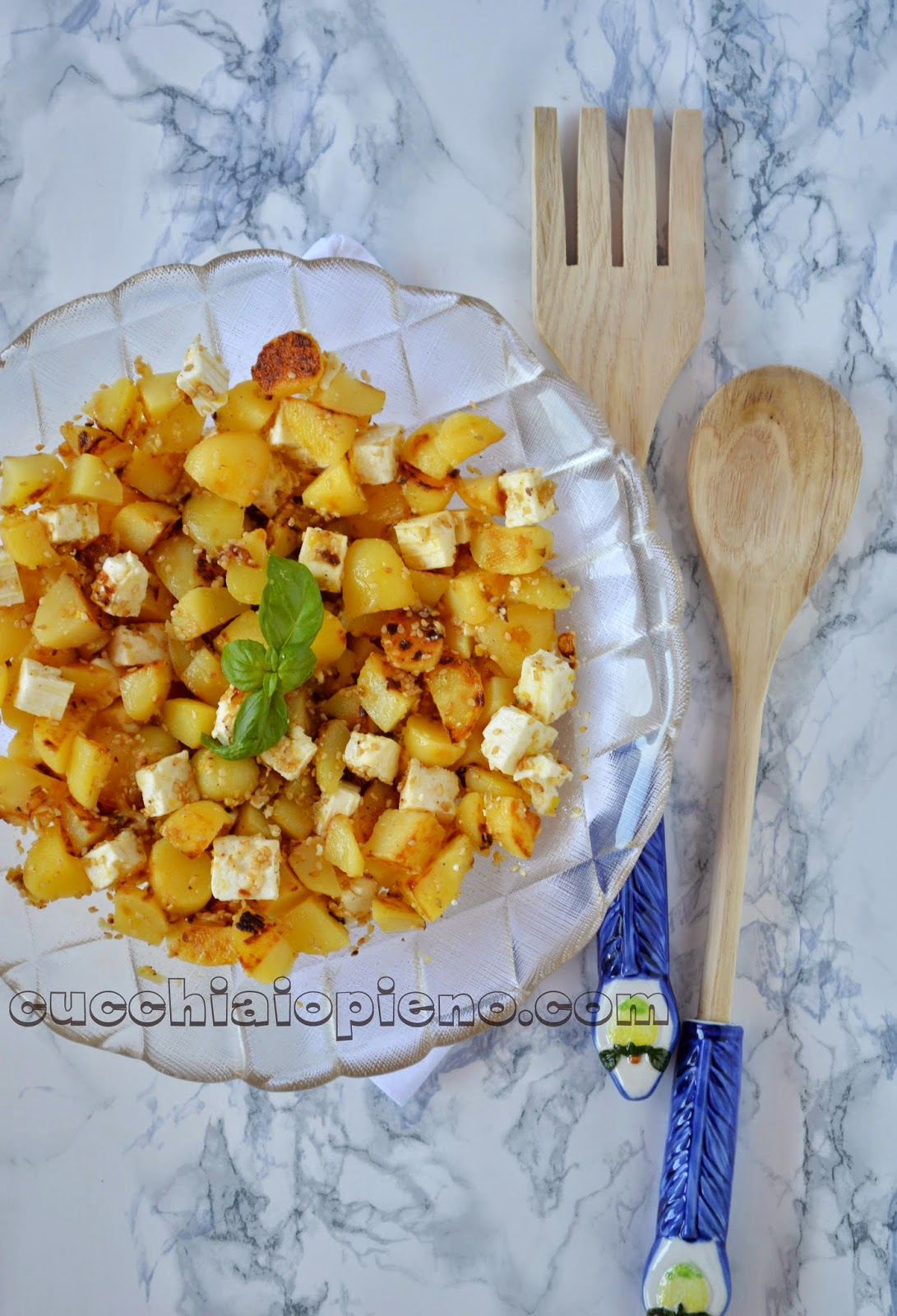 salada de batata e queijo