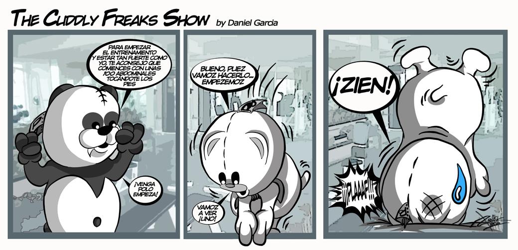 The Cuddly Freaks Show Tira 14: Entrenamiento peligroso