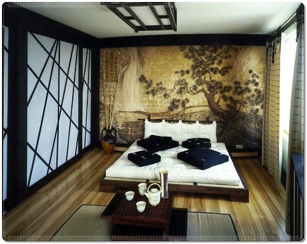 Design Oriental Main Bedroom Decorating