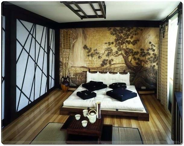 Design Oriental Main Bedroom Decorating