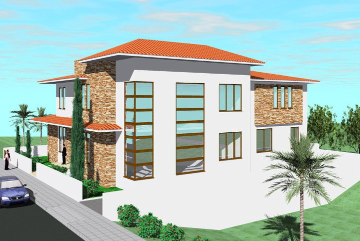 Mediterranean modern homes exterior designs home decorating for Modern exterior design ideas