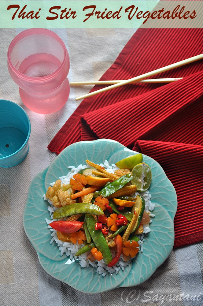 Thai Stir Fry Vegetables In Oyster Sauce
