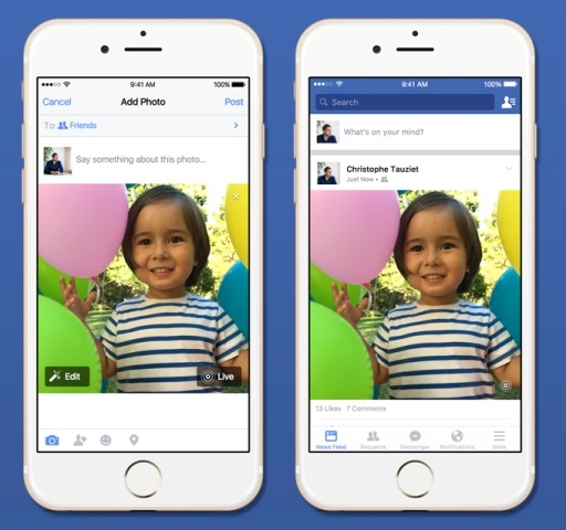 How To Setup Live Photos iPhone On Facebook In iOS 9 - iPhone iOS