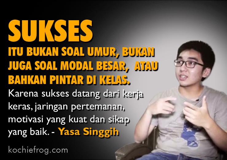 Kisah Yasa Singgih Wirausaha Muda Sukses - Kochie Frog