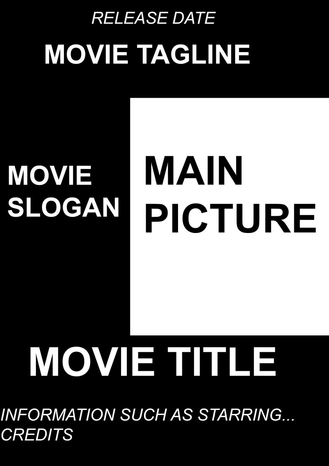 Movie credits poster