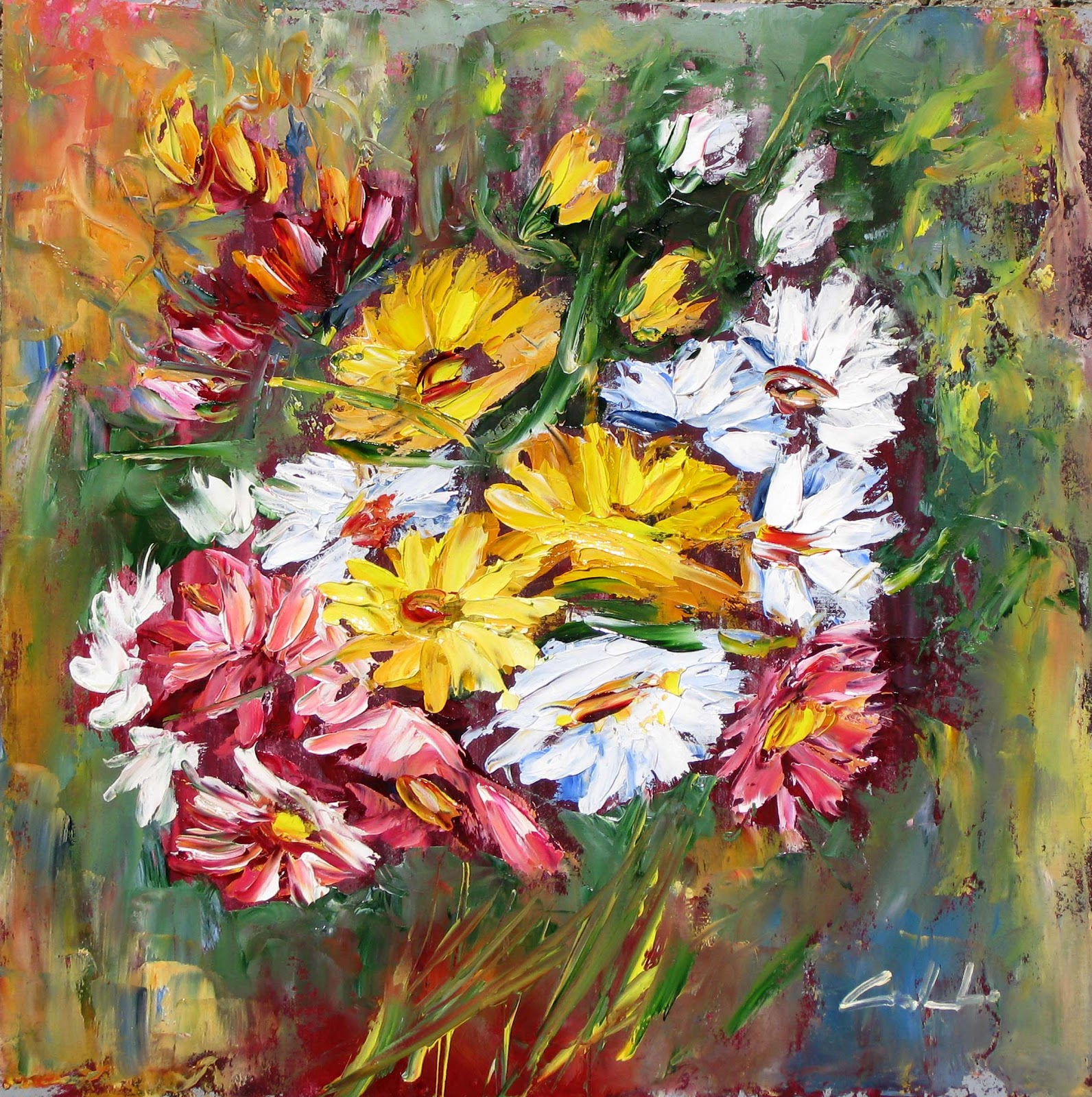 Artecarlacolombo collettiva flowers ad ivrea for Fiori ad olio