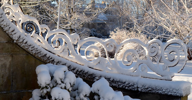 Iron Scroll work in snow
