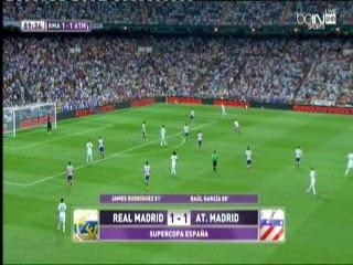 اهداف مباراة ريال مدريد وأتلتيكو مدريد 1-1 فى كأس السوبر الأسباني 2014