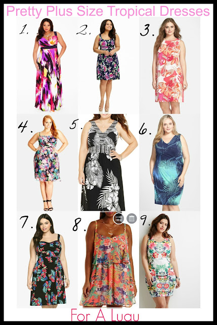 plus size tropical dress