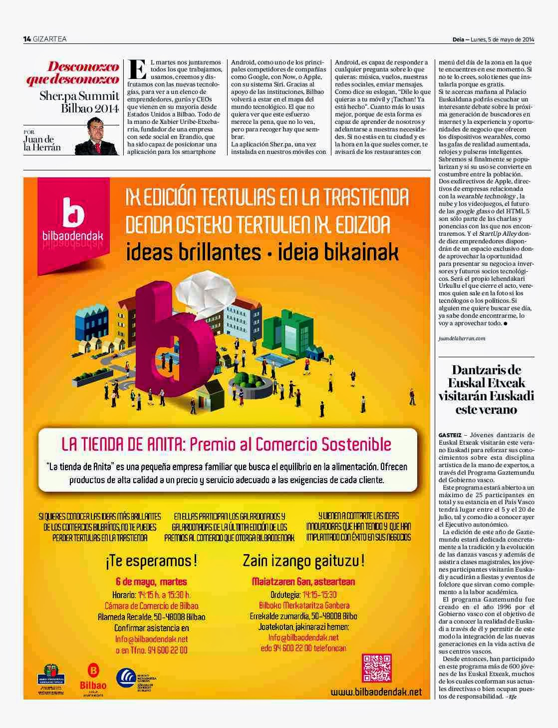 Sher.pa Summit Bilbao 2014