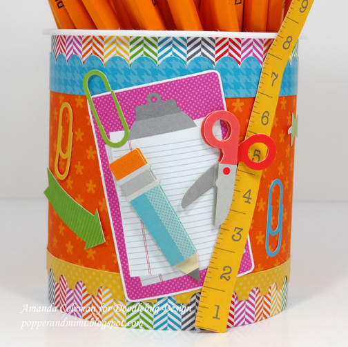 Frosting Container Pencil Jar  by Amanda Coleman