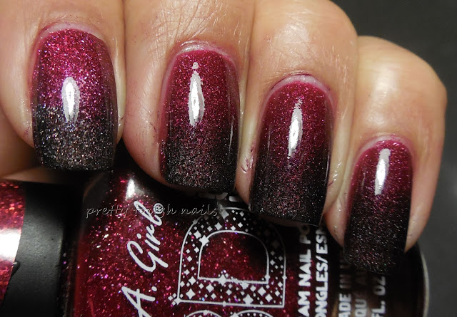 L.A. Girl 3D Holographic in Sparkle Ruby and Black Illusion Gradient