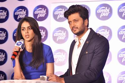 Ritesh Deshmukh & Genelia launch Ambipur