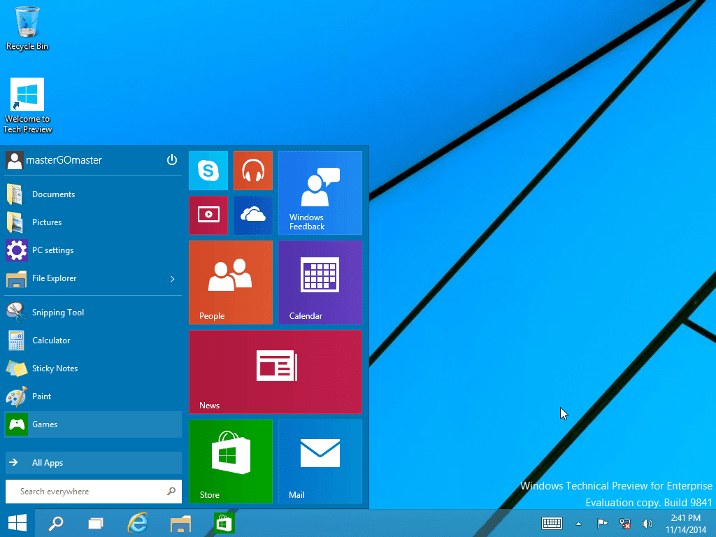 Download Windows 10 Pro Technical Preview ISO