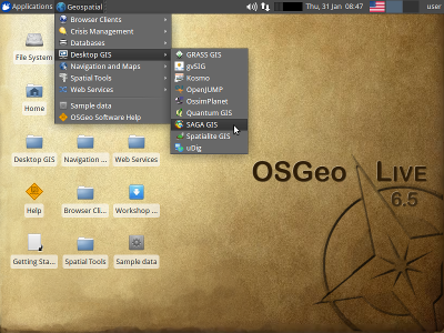 OSGeo-Live Desktop
