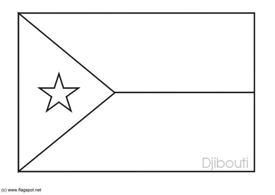LAMINAS PARA COLOREAR - COLORING PAGES: Mapa y Bandera de Djibouti ...