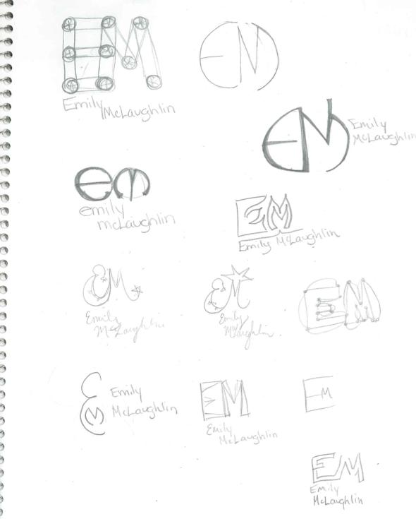 Emily Rose'S Graphic Design: Name Logos