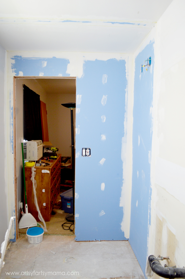 Master bathroom renovation reveal artsy fartsy mama What sheetrock to use in bathroom
